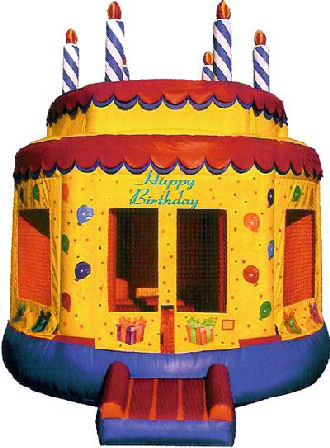15' x 15' Birthday Cake #2 Deluxe MoonBounce Rental