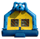 15' x 15' Blue Dog MoonBounce Rental