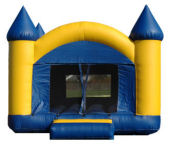 15' x 15' Blue & Yellow Castle MoonBounce Rental