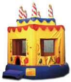 15' x 15' Birthday Cake #1 MoonBounce Rental