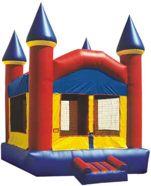 11' X 11' Primary Colors Castle Deluxe MoonBounce Rental