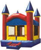 11' x 11' Primary Colors Castle MoonBounce Rental