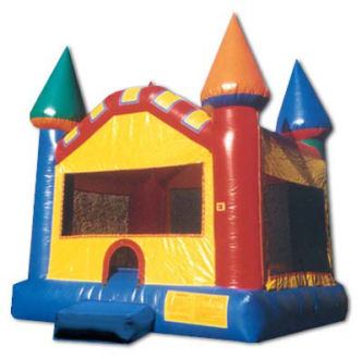 15' x 15' Primary Colors Castle Deluxe MoonBounce Rental