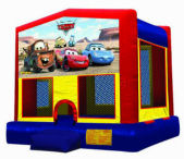 15' x 15' Cars MoonBounce Rental