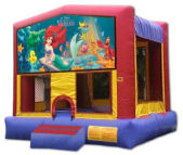 15' x 15' Little Mermaid MoonBounce Rental
