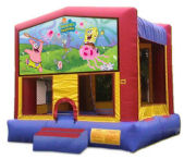 15' x 15' Sponge Bob Square Pants MoonBounce Rental