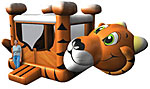15' x 15' Tiger MoonBounce Rental